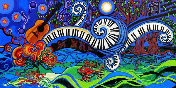 The Power Of Music Print by Genevieve Esson