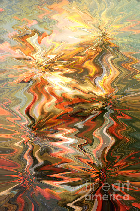The Power Of Peace - Abstract Art Print by Carol Groenen