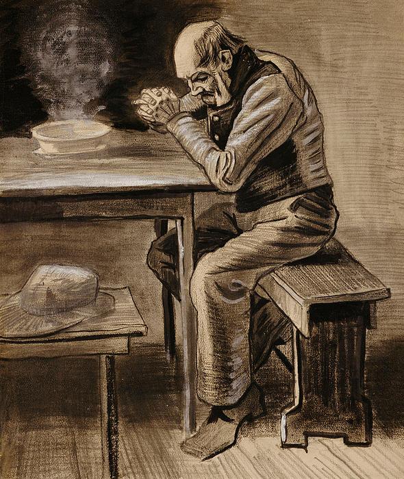The Prayer Print by Vincent Van Gogh