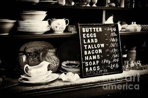 The Price List Print by Paul W Faust -  Impressions of Light