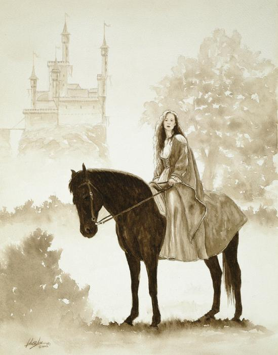 The Princess Has A Day Out. Print by John Silver