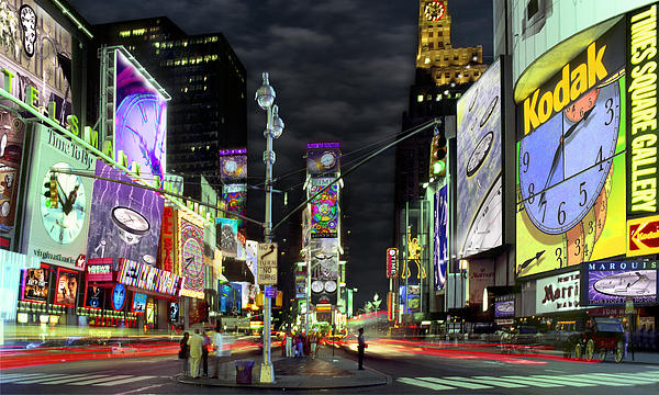 The Real Time Square Print by Mike McGlothlen