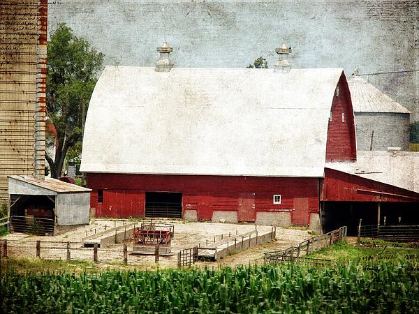 The Red Barn Print by Cassie Peters