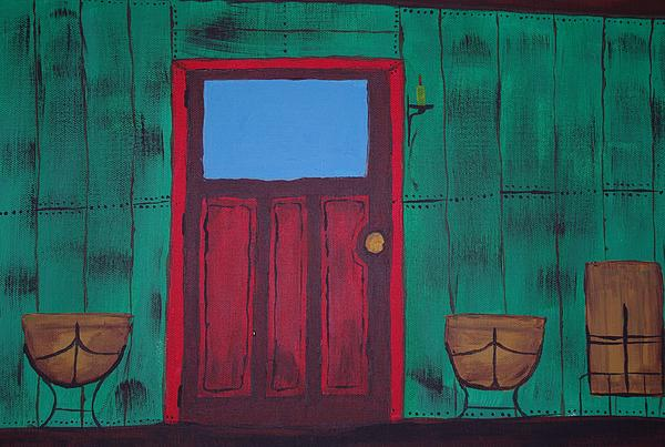 The Red Door Print by Keith Nichols