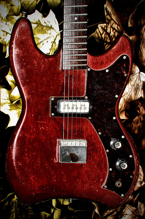 The Red Guitar Blues Print by Bill Cannon