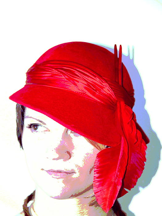 The Red Hat II Print by  Andrea Lazar