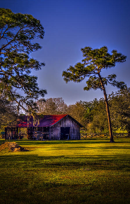 The Red Roof Barn Print by Marvin Spates