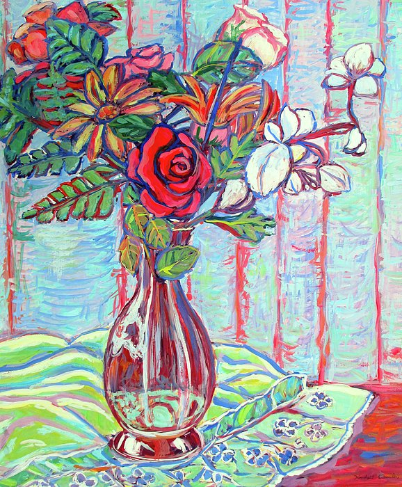 The Red Rose Print by Kendall Kessler