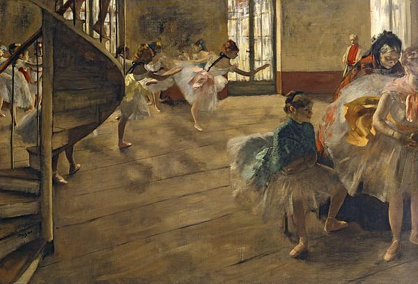 The Rehearsal, C.1877 Print by Edgar Degas
