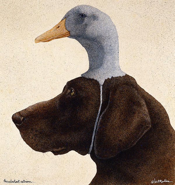 The Reluctant Retriever... Print by Will Bullas