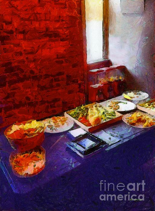 The Remains Of The Feast Print by RC deWinter