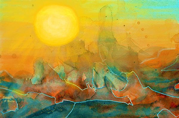 The Rising Sun Print by Sandi OReilly