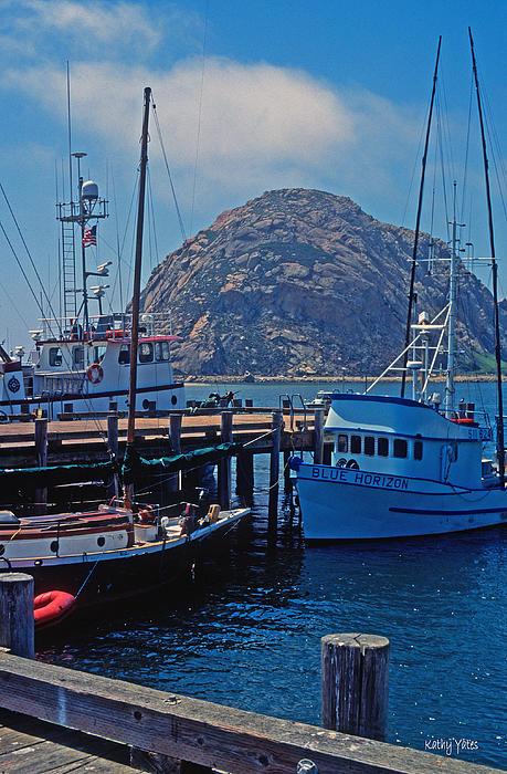 The Rock At Morro Bay Print by Kathy Yates