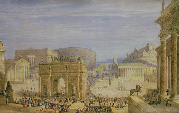 The Roman Forum Print by Francis Vyvyan Jago Arundale