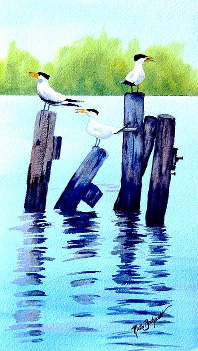 The Royal Terns Print by Ruth Bodycott
