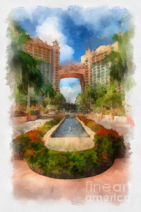 The Royal Towers Atlantis Resort Print by Amy Cicconi