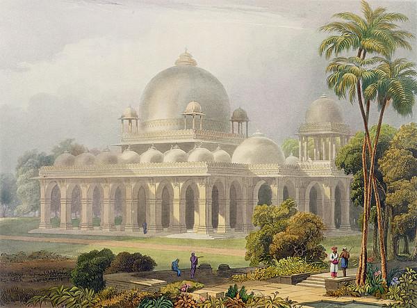 The Roza At Mehmoodabad In Guzerat, Or Print by Captain Robert M. Grindlay