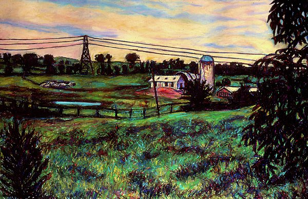 The Rusty Silo Print by Kendall Kessler