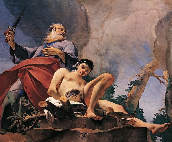 The Sacrifice Of Isaac Print by Giovanni Battista Tiepolo