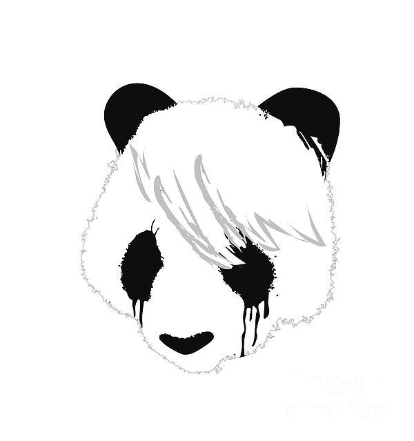 The Sad Panda Print by Budi Kwan