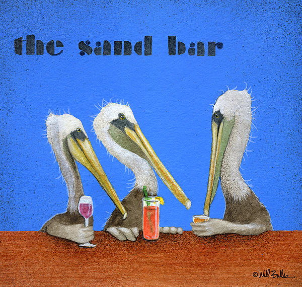 The Sand Bar... Print by Will Bullas