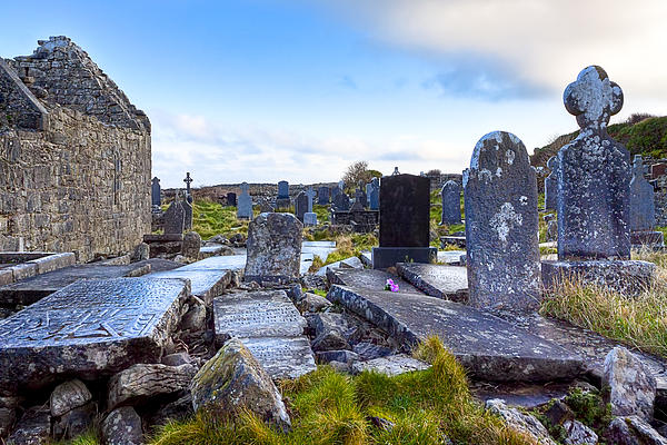 The Seven Churches Ruins On Inis Mor Print by Mark Tisdale