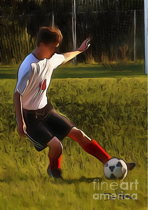 The Soccer Player Print by Dan Stone
