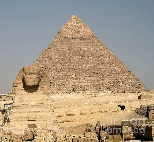 Christy Gendalia - The Sphinx Guarding The Pyramid