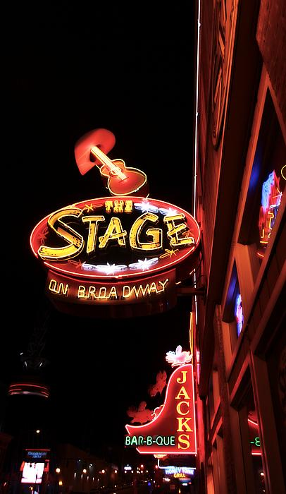 The Stage On Broadway In Nashville Print by Dan Sproul