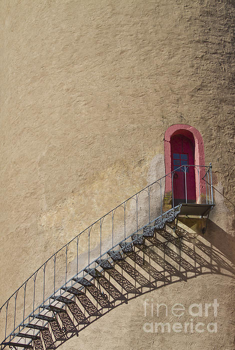 The Staircase To The Red Door Print by Heiko Koehrer-Wagner