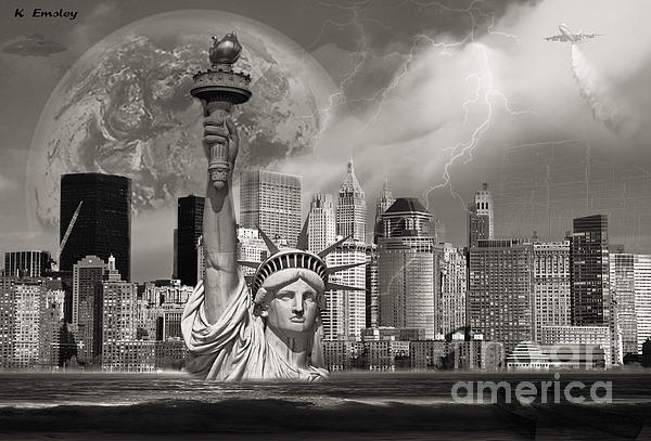 The Statue Of Sandy Print by Karl Emsley