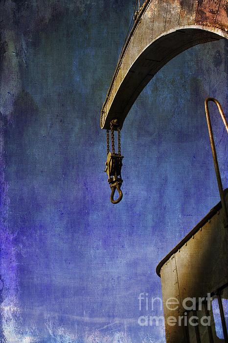 The Steam Crane Print by Brian Roscorla