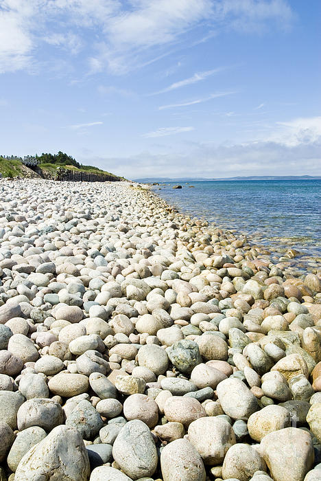 The Stones On Beach Print by Boon Mee