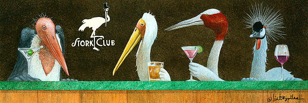 The Stork Club... Print by Will Bullas