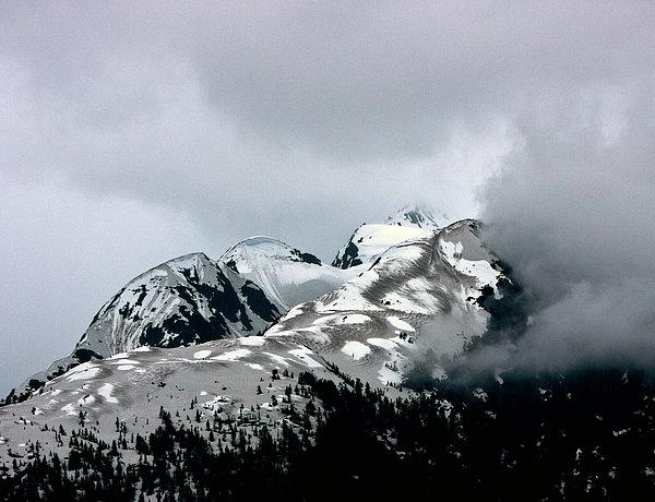 The Storm Rolls Into Glacier Bay Print by John Haldane