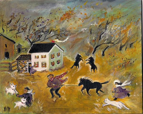 The Storms Comin' Print by Barbara LeMaster