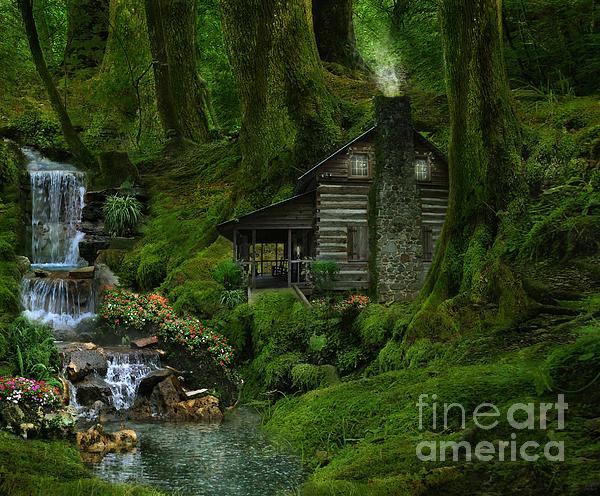 The Summer Cottage Print by Lynn Jackson