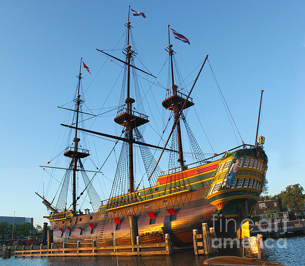 The Tall Clipper Ship Stad Amsterdam - Sailing Ship  - 04 Print by Gregory Dyer