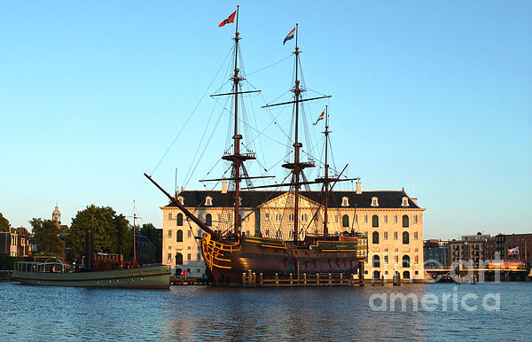The Tall Clipper Ship Stad Amsterdam - Sailing Ship - 07 Print by Gregory Dyer