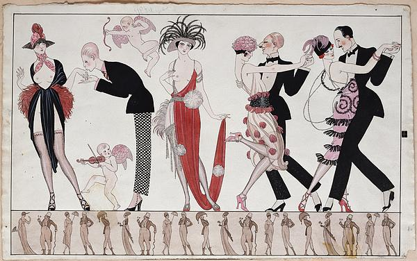 The Tango Print by Georges Barbier