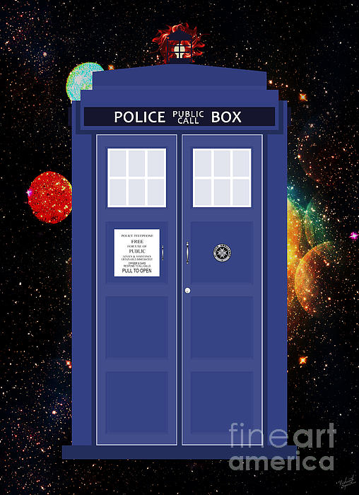 The Tardis Print by Nishanth Gopinathan