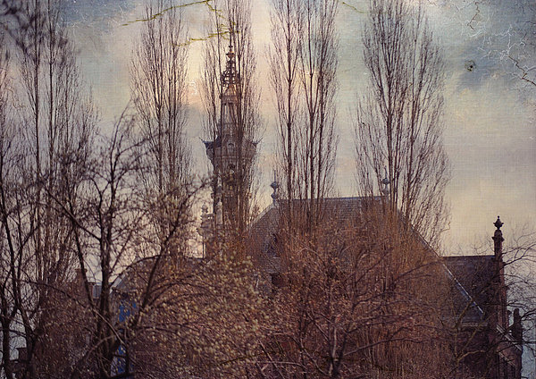 The Temple Bell Dies Away 2. Pink Spring In Amsterdam Print by Jenny Rainbow
