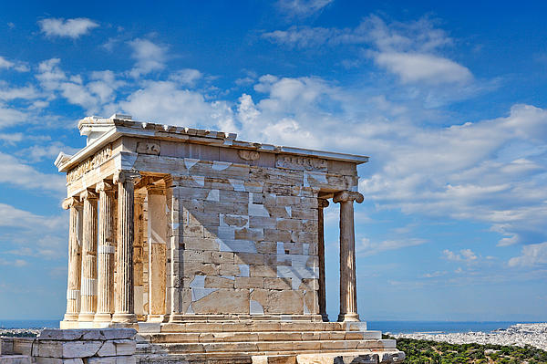 The Temple Of Athena Nike - Greece Print by Constantinos Iliopoulos