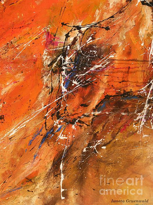 The Temptation -abstract Art Print by Ismeta Gruenwald