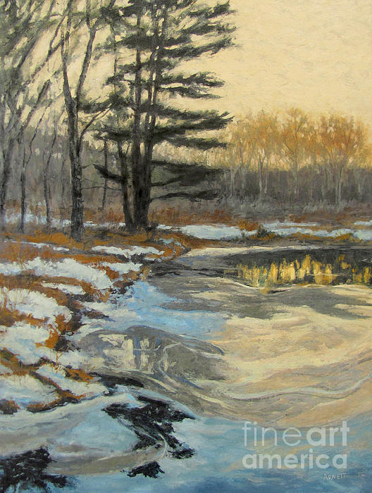 The Thawing Pond - Hudson Valley Print by Gregory Arnett