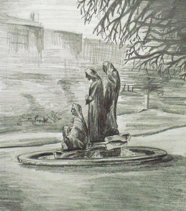 The Three Fates Print by Alan Hogan