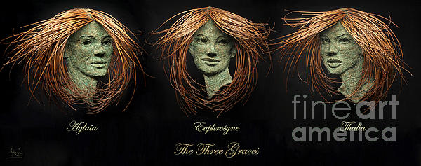 The Three Graces Print by Adam Long