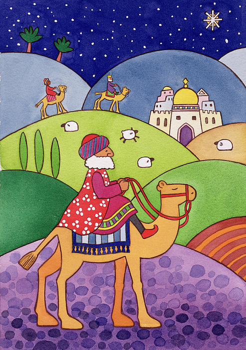 The Three Kings Print by Cathy Baxter