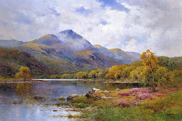The Trossachs Ben  Print by Alfred de Breanski Jr
