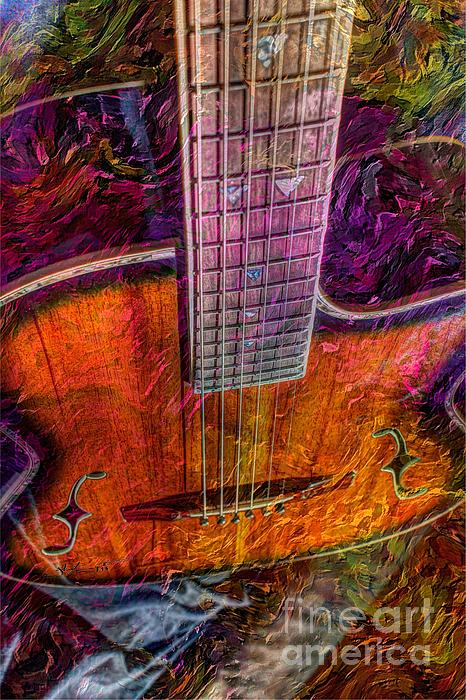 The Tuning Of Color Digital Guitar Art By Steven Langston Print by Steven Lebron Langston